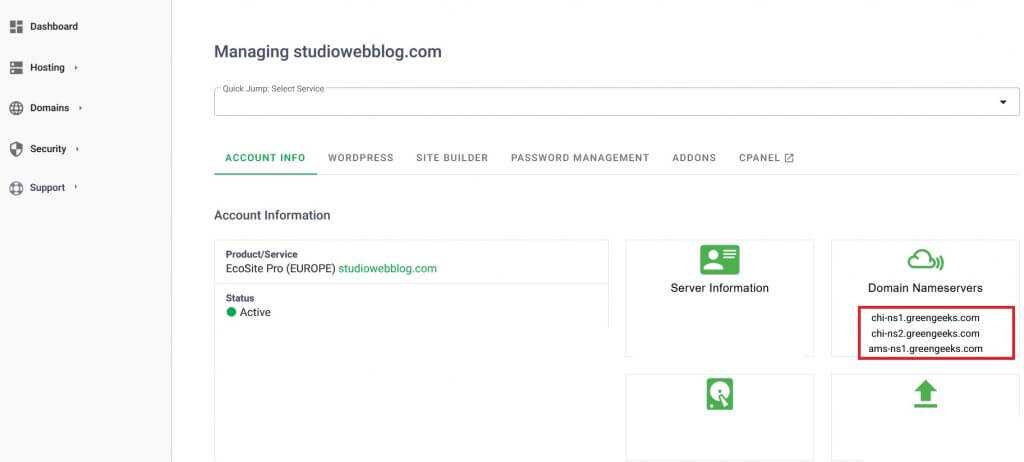 how to point a domain name to web hosting GreenGeeks Web hosting